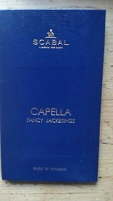 SCABAL Design SAMPLEBOOK StoffKatalog Stoffmusterbuch Capella Fancy Jacketings