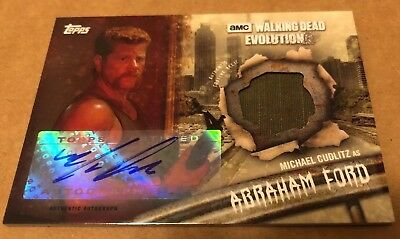 2017 Topps The Walking Dead Evolution Autograph Relic Michael Cudlitz #8/10 - NM