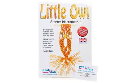 Macrame Owl Makes 2 - Make Your Own - Art And Craft Kit