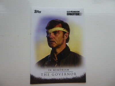 The Walking Dead Evolution In Memoriam Card The Governor IM-8 Target Exclusive