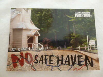 The Walking Dead Evolution No Safe Haven Chase Card NSF-6 St.Sarah's Church
