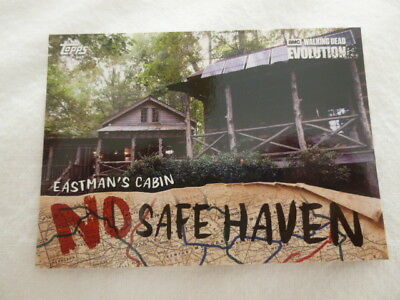 The Walking Dead Evolution No Safe Haven Chase Card NSF-9 Eastman's Cabin