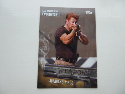 The Walking Dead Evolution Weapons Card  W-9 Abraham's Rifle