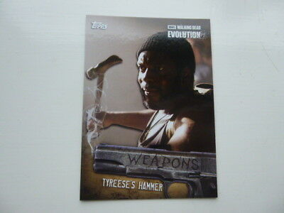 The Walking Dead Evolution Weapons Card  W-4 Tyreese's Hammer
