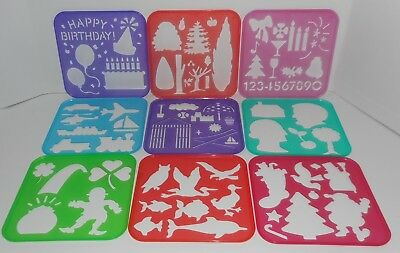 18 Tupperware Tuppertoys STENCILS Alphabet Numbers Shapes Holiday All Different