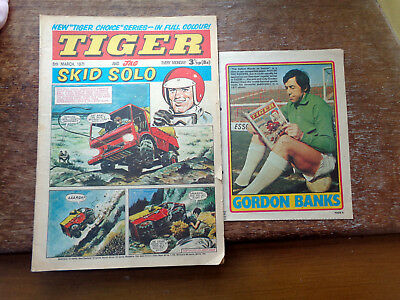 Gordon Banks reading Tiger Comic + Tiger comic