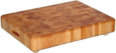 Solid Wood End Grain Chopping Butcher Block Cutting Board ~ Rubber Tipped Feet