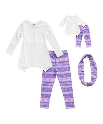 Dollie and Me Girls Tunic with knit Pants Size 4 with Matching Doll Outfit NWT
