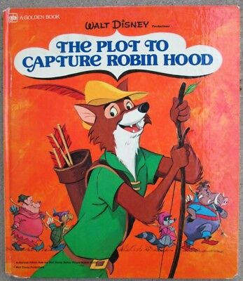 Walt Disney Production The Plot To Capture Robin Hood  Golden Oversize Book 1973