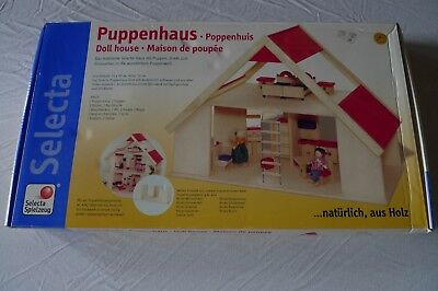 PUPPENHAUS Holz von SELECTA Spielzeug Made in Germany