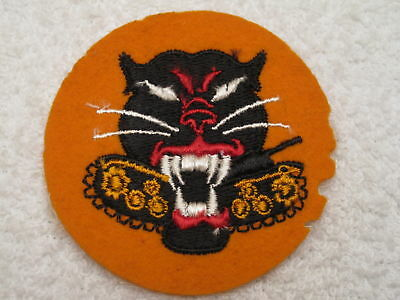 Ww Ii Us Army Tank Destroyer Felt On Cheesecloth Patch With 8 Wheel Variation