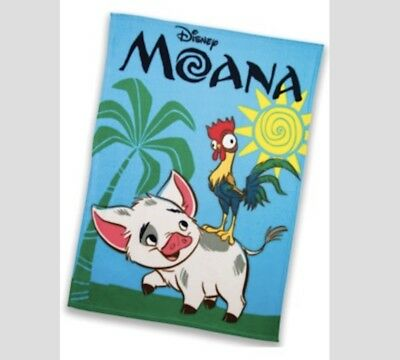 """Moana 36"""" X 50"""" Blanket Disney Movie Club Official Exclusive (Brand New Sealed)"""
