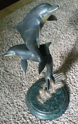 """Dolphins Sculpture SPI San Pacific International 20"""" Inches"""