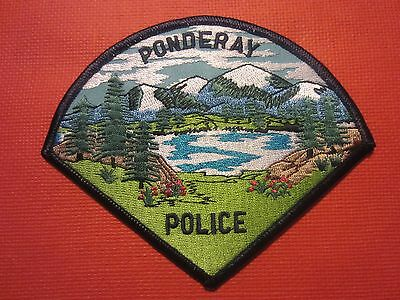Collectible Idaho Police Patch Ponderay New