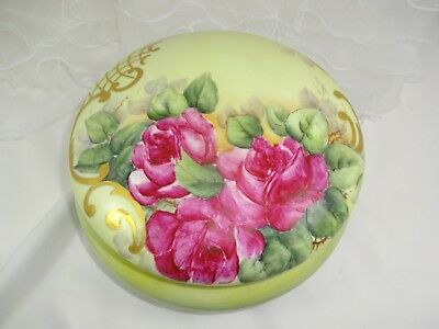 LARGE Antique French B&C Limoges Hand Painted Artist Signed Jewel Casket Box