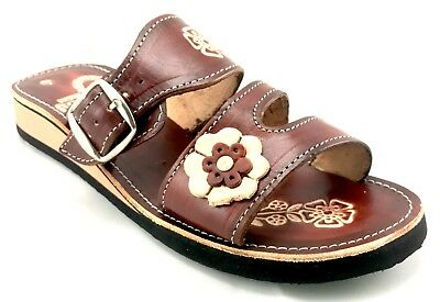 943270bd4 Womens Mexican Handmade Leather HUARACHES Sandals Sandalias Mujer MEXICO  Broche