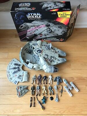 Star Wars Millennium Falcon, 1995, W/8 Figures And Additional Ships, Potf Kenner