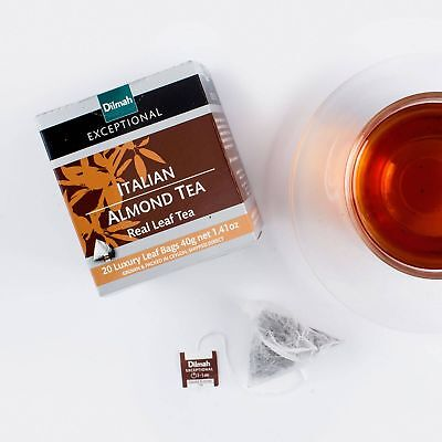 Dilmah Exceptional Italian Almond tea real leaf  grown & packed in ceylon