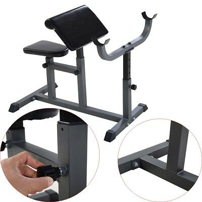 Home Adjustable Commercial Preacher Arm Curl Weight Bench Seat Dumbbell Biceps