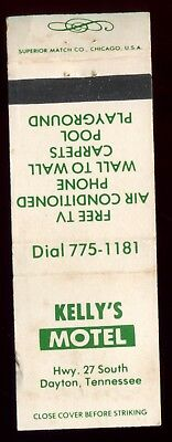 KELLY'S MOTEL in DAYTON TENNESSEE - Vintage Used Matchbook