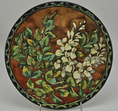 Antique Doulton Faience 13 Inch Lizzie Shettleworth Charger 1878