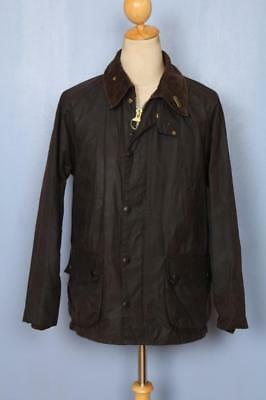 Mens BARBOUR Bedale Waxed Jacket Brown Size 40