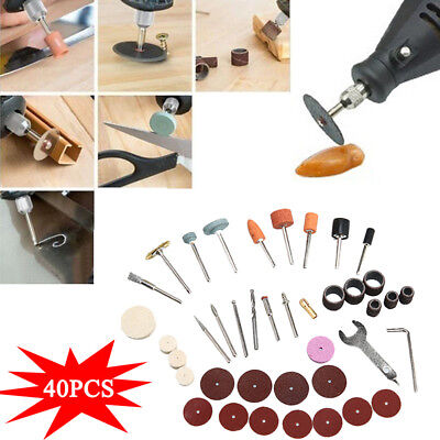 40pc Electric Rotary Grinder Polishing Sanding Bits Tool Kit Accessories Durable