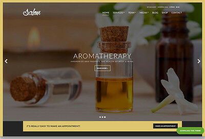 Aromatherapy Boutique Ecommerce Business Website. 1-Click Install.