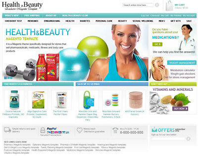 Health And Beauty Boutique Ecommerce Business Website. 1-Click Install.