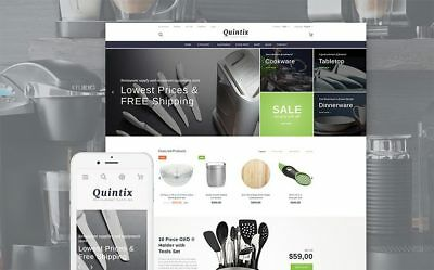 Cookware Ecommerce Store Business Website. 1-Click Install.