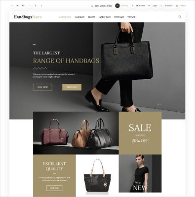 Leatherware Boutique Ecommerce Website Business. 1-Click Install