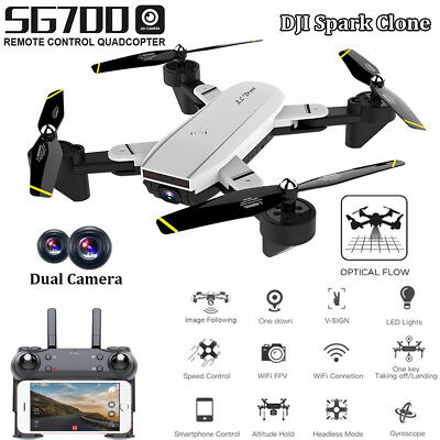 SG700/Drone 2.0MP Wide Angle Dual Camera Wifi FPV Foldable 6-Axis 4CH Quadcopter