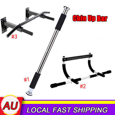 Portable GYM Chin Up Workout Bar Home Door Pull Up ABS Exercise chinup Fitness