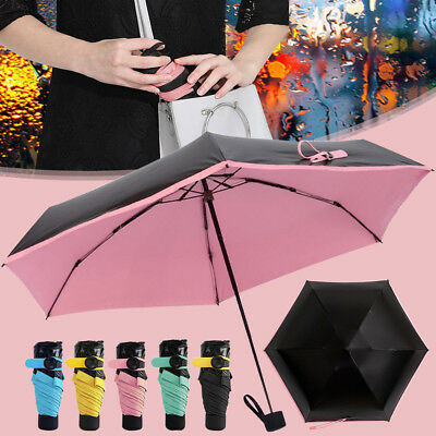 Sun Rain Pocket Umbrella Anti UV Mini Folding Windproof Lightweight Travel Women