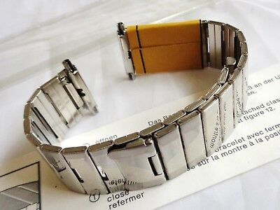 Vintage Expandro German New Old Stock Stless Steel Mens Watch Bracelet 18 to 23m