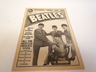 The Beatles - Very Rare 1964 Lyric Book + Pictures /Biography - Excellent +