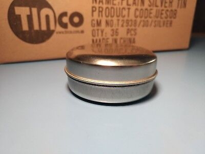 Matte Silver Candle Tin 62mm x 20mm Box of 36