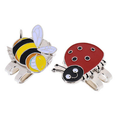 2Pcs Lightweight Alloy Golf Ball Marker with Magnetic Hat Clip for Wen Women