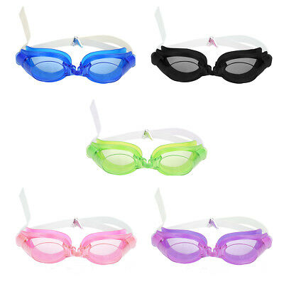 Adult Water Sports Summer Swim Swimming Goggles Set with 2 Earplug & 1 Nose Clip