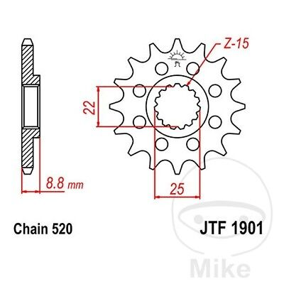JT Front Sprocket 12T 520 Pitch JTF1901.12 KTM EXC-F 350 ie4T Sixdays 2012