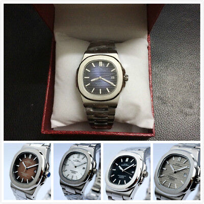 New Nautilus Steel Bagelsport Classic Automatic Mechanical Auto Date Mens Watch