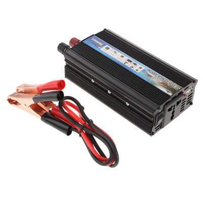 Aluminum Alloy Solar Power Car Inverter 1000W 24V to 220V AC Power Converter