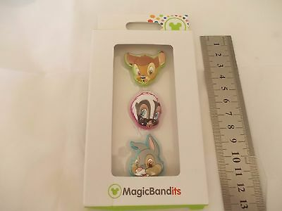 genuine Disney Parks magic band  bambi and friends charms  - Set of 3 Charms