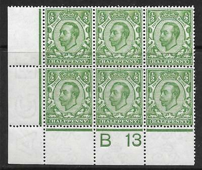 Sg 344 ½d Green Downey Head control B 13 perf 2A UNMOUNTED MINT
