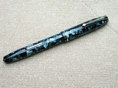 Lovely Conway Stewart 75 Fountain Pen In Blue Pearl Marble.