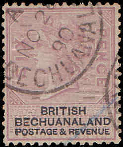 1887 Bechuanaland #15, Incomplete Set, Used