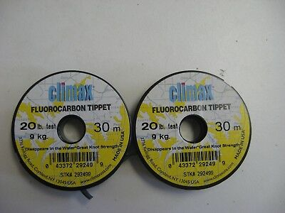 Climax 7X Fluorocarbon Tippet 30M~ 2 Spools~ One Price