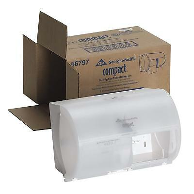 Georgia-Pacific Compact 56797 Translucent White Side-By-Side Double Roll