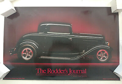 The Rodders Journal Poster #1 '32 Ford Three Window Coupe Hot Rod 1997