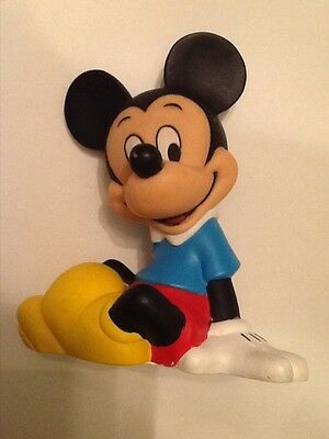Disney Mickey Mouse Sitting Plastic Bank With Stopper